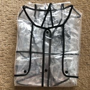Jackets & Coats - NWT Polyester Clear Raincoat OS $69